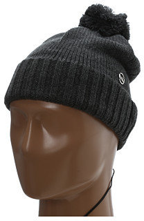 MICHAEL Michael Kors Michael Kors 2X2 Rib Knit Hat W/Pom Pom & Earphone