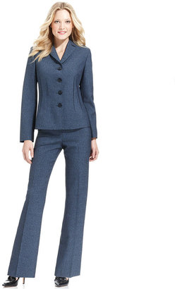 Le Suit Pantsuit, Heathered Jacket & Pants