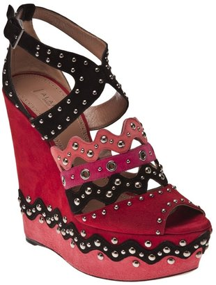 Alaia Vault chamois cloutte color sandal
