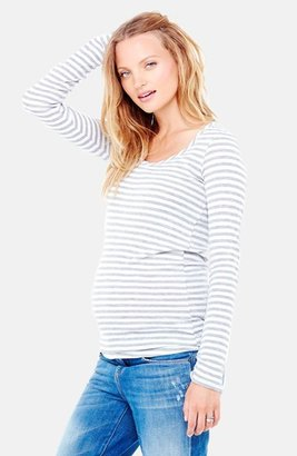 Women's Ingrid & Isabel Stripe Scoop Neck Maternity Tee $48 thestylecure.com