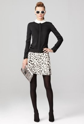 Milly Ellie Combo Collar Top