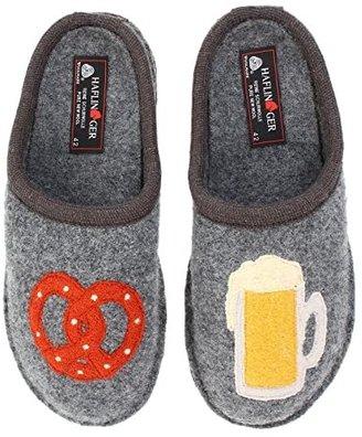 Haflinger Beer Pretzel Slipper (Grey) Slippers