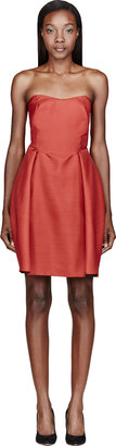 Carven Red Wool Dress