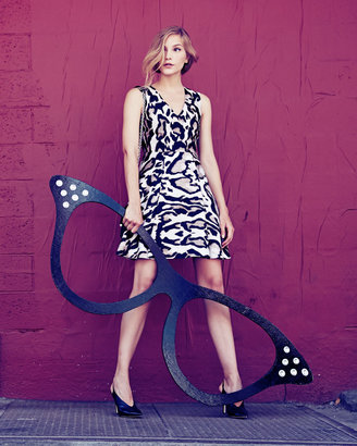 Diane von Furstenberg Renna Leopard-Print Flared Dress