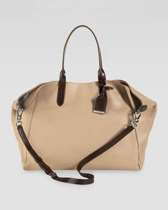 Cole Haan Crosby Pebbled Leather Shopper, Sand