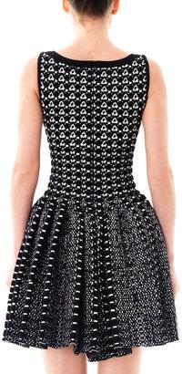 Azzedine Alaia Snake knitted bi-colour dress