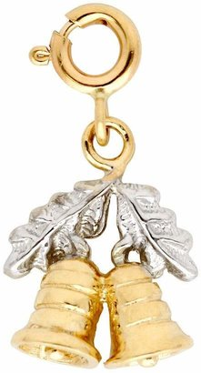 14K Yellow Gold Two-tone Christmas Bells