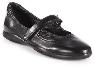 Prada Mary Jane Leather Flats