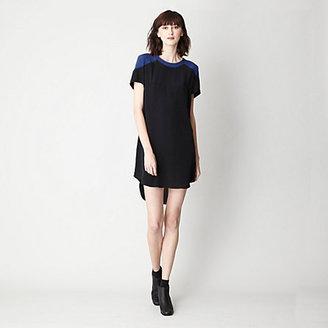 Sea color block t-shirt dress