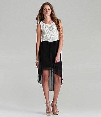 B. Darlin Blouson Hi-Low Dress