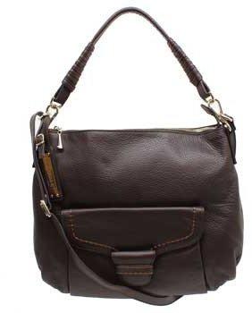 "Plinio Visona 12512"" Caramel Leather Hobo Bag"