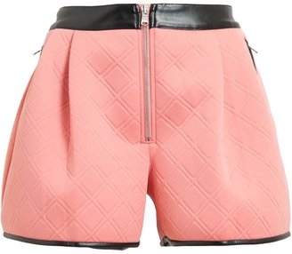 3.1 Phillip Lim Quilted Neoprene and Leather Shorts
