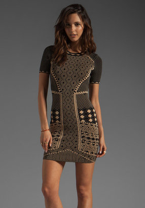 Torn By Ronny Kobo Candy Tribal Jacquard Dress