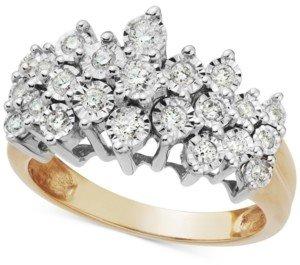 Macy's Diamond Crown Ring in 10k Gold (1/2 ct. t.w.)