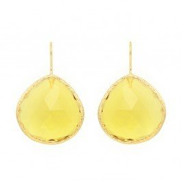 Charm & Chain Coralia Leets Yellow Chalcedony French Wire Earrings