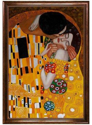 """Gustav """"The Kiss"""" Framed Canvas Art By Klimt"""