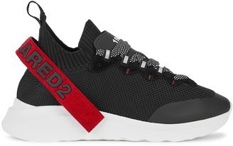 DSQUARED2 Speedster Black Stretch-knit Sneakers