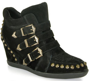 Ash Bobos - Black Studded Suede Sneakers