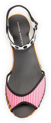 Webster Sophia Marcela Flat Espadrille Sandal, Pink Stripe