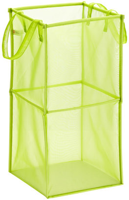 Container Store Double Folding Mesh Cube Kiwi