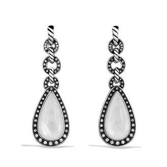 David Yurman Anjou Drop Earrings with Moon Quartz and Diamonds