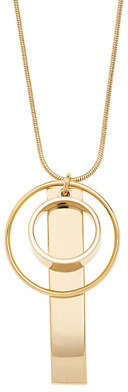 J.Crew Mixed gold charm necklace