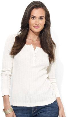 Lauren Ralph Lauren Long-Sleeve Knit Henley