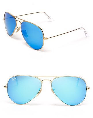 Ray-Ban Classic Mirror Aviator Sunglasses, 58mm