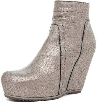 Rick Owens Wedge in Silver