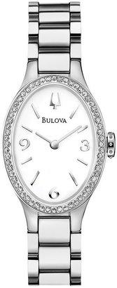 Bulova watch - women's diamond gallery winslow stainless steel - 96r191
