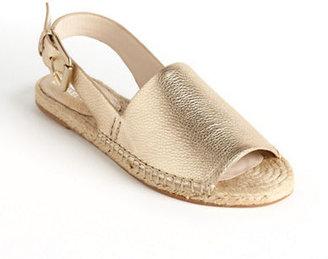 KORS Blythe Leather Slingback Sandals