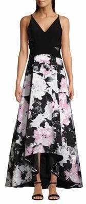 Xscape Evenings Floral Sleeveless Fit Flare Dress