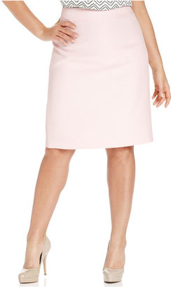Kasper Plus Size Skirt, Tweed Straight