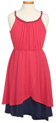 Paperdoll Paper Doll Colorblock Tulip Skirt Dress (Little Girls & Big Girls)