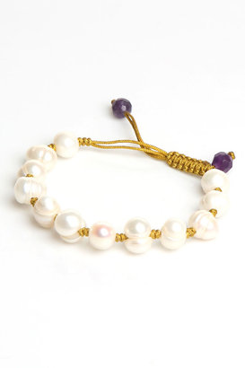 Brian Nagourney Jewelry Knot Bracelet in White Pearl