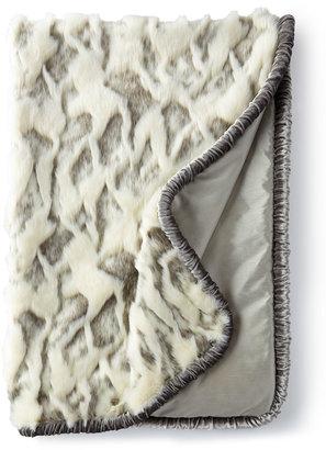 """Dian Austin Couture Home Venetian Glass Faux-Fur Throw, 48"""" x 72"""""""
