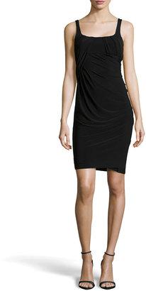 Alexander Wang Sleeveless Draped Jersey Dress, Black