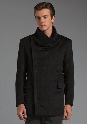 Kai-aakmann Funnel Neck Wool Coat