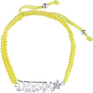 """JCPenney Pure Silver Plated """"Dream"""" Bracelet Yellow Cord"""