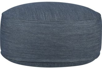 "Crate & Barrel Clint Denim 20"" Pouf"