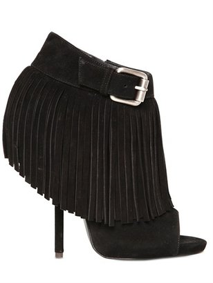 Giuseppe Zanotti 130mm Suede Fringed Low Boots