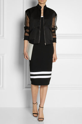 DKNY Striped cotton-jersey dress