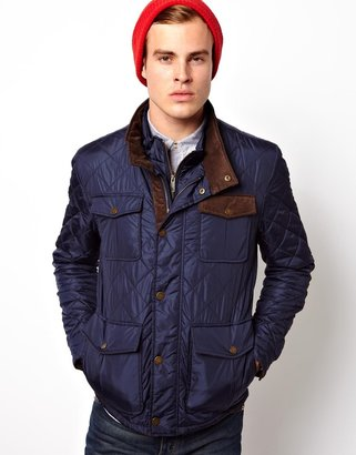 Selected Quilted Jacket - Blue