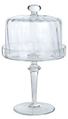 Lisa Stickley Glass cupcake stand and cover