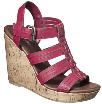 Mossimo Women's Waylon Harachi Cork Wedge Sandal - Red