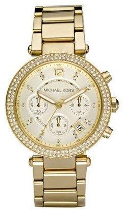 Michael Kors Parker Glitz Watch, Golden $275 thestylecure.com