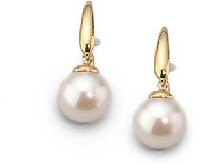 Majorica 10MM White Pearl Drop Earrings