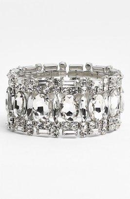 Nordstrom 'Occasion' Crystal Wide Stretch Bracelet