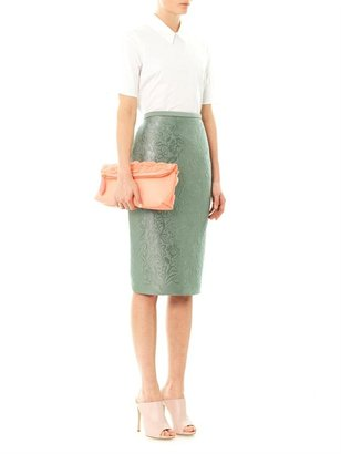 Burberry The Petal leather clutch