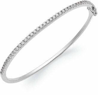Arabella Sterling Silver Swarovski Cubic Zirconia Bangle Bracelet (1-3/4 ct. t.w.)